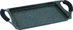 Tava grill dreptunghiulara cu interior marmorat, 34 cm
