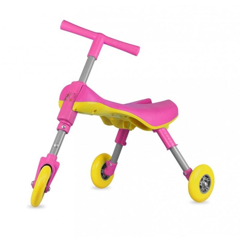 Tricicleta pliabila Jolly Kids fara pedale  60 x 33 x 39 cm,Roz