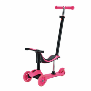 Trotineta pentru copii cu 3 roti, multifunctionala 3 in 1,roz