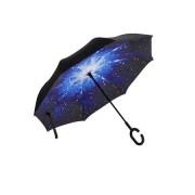 Umbrela de ploaie reversibila 106 cm Imprimeu Interior Univers