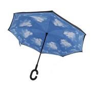 Umbrela de ploaie reversibila 106cm Imprimeu Interior Nori