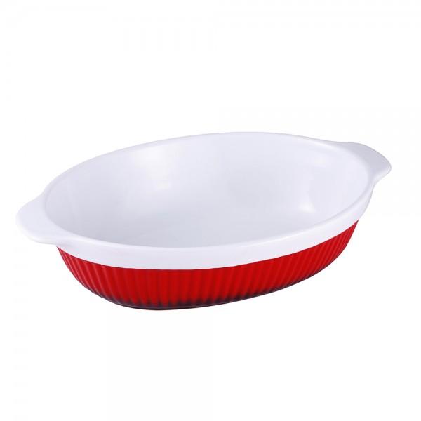 Vas de copt oval din ceramică, 3 litri