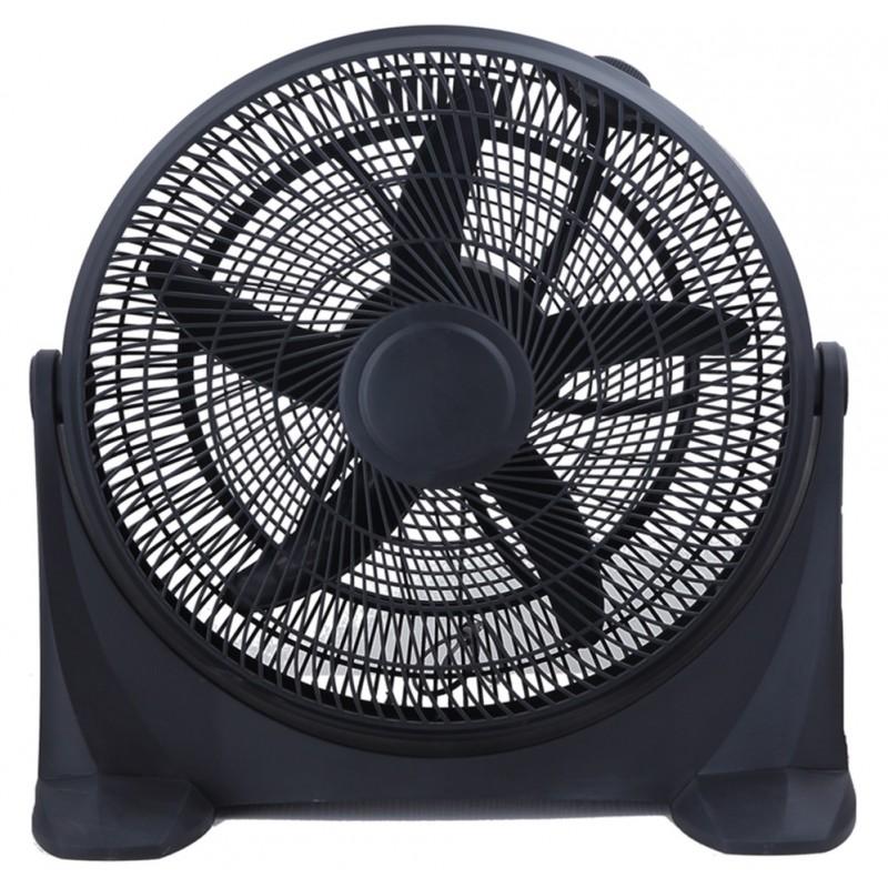 Ventilator cu suport,3 trepte viteza, 90W,40 cm, negru