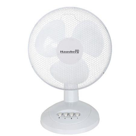 Ventilator de birou Hausberg,45 W,26 cm, 2 trepte de viteze, Functie oscilare
