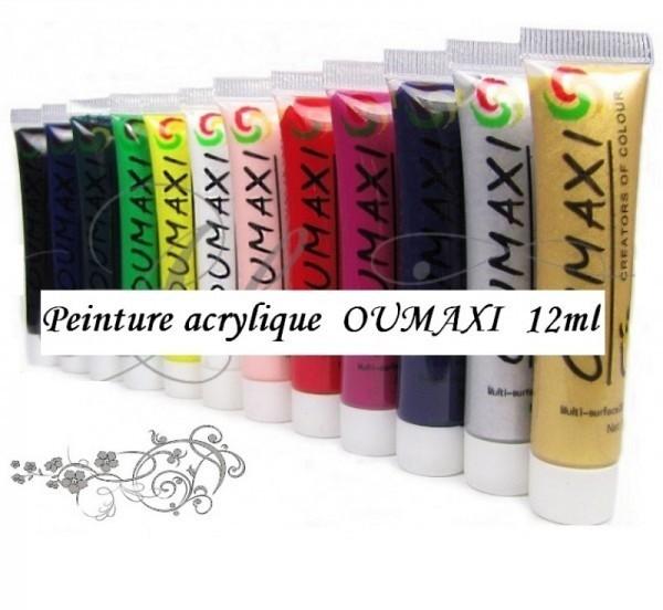 Vopsele acrilice OUMAXI 12x12ml